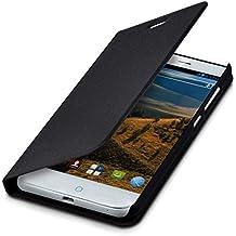 kwmobile Funda para ZTE Blade S6 Plus LTE 4G - Flip cover para móvil - Cover plegable en negro