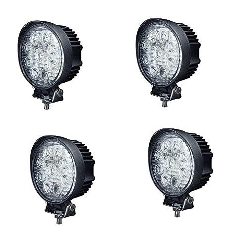 JVJ 4 X Lampe tour LED 27W projecteur spot idéal pour véhicule tout-terrain, chantier, phare bateau, auto 9 - 30V A7