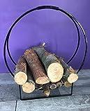 NALIAN  Porte-bûches design moderne - support bois range buches porte buches panier à bois porte bois barbecue cheminée