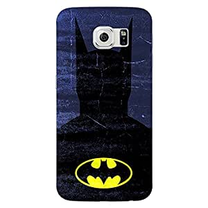 Jugaaduu Superheroes Batman Dark knight Back Cover Case For Samsung S6