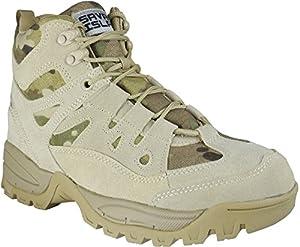 Chaussures Militaires Bottes Bottines Mi-hautes pour Combat Armée Tactique Randonnée Trekking Montagne