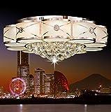 OOFAY Deckenleuchte LED Kristall Lampe E14 Lichtquelle LED Patch Kombination Mit Fernbedienung Taste LED Runde High End Einfache Moderne 60 * 25 cm