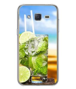 Snapdilla Designer Back Case Cover for Galaxy J3 2015 (Food Straw Sky Clouds Tasty Sweet Summer Dessert Cool)