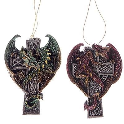 Gothic Dragon Celtic Cross Hanger