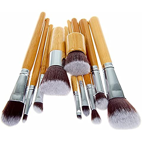 Unimeix 10 pcs Makeup Brush Set Powder