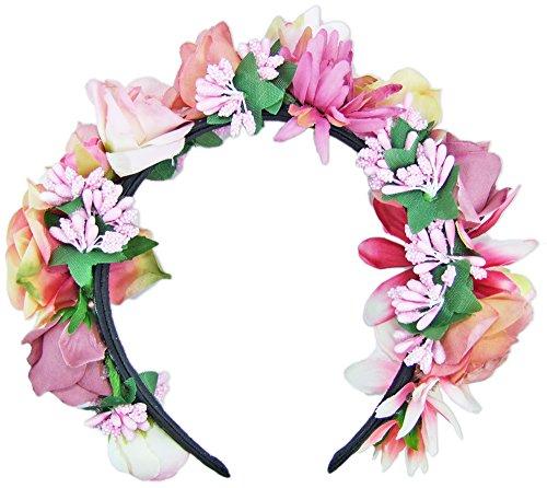 Blumen Haarband Bella mit kleinen Rosen Haarschmuck Hochzeit Trachten Festival