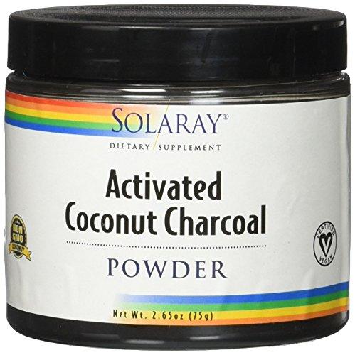 Carbon Activo de Coco de Solaray Activated Coconut Charcoal Powder 75g