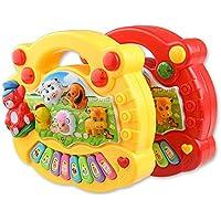 Jersh☆ Musical Instrument Toy Baby Kids Animal Farm Piano Developmental Music Toys Educational Multifunctional Keyboard Children'S Music Toy Musical Instrument Toys Mini Piano Children'S Piano (Red)