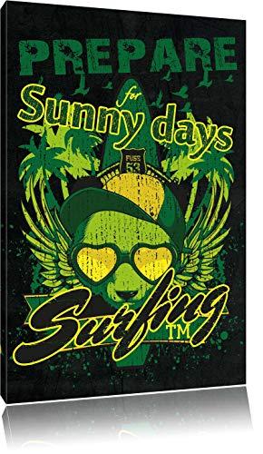 Dark Prepare for sunny days Leinwandbild Bild auf Leinwand, XXL riesige Bilder fertig gerahmt mit Keilrahmen, Kunstdruck auf Wandbild mit Rahmen, günstiger als Gemälde oder Ölbild, kein Poster oder Plakat, Format:120x80 cm