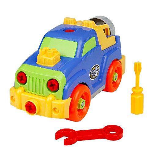 YX Montar y Desmontar Jeep Juguete Coches de Construcción con Destornilladores y Llaves para Niños 3 4 5 6 Años