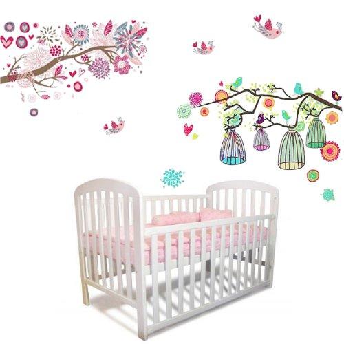 sticker-mural-fleurs-arbre-cage-oiseau-art-chambre-enfant-fille