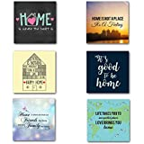 YaYa Cafe Good Vibes Home Wooden Tea Coasters For Drinks/Dining Table Set Of 6 (3.5 X 3.5 Inches)