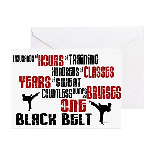 CafePress - One Black Belt 2 - Grußkarte, Notizkarte, Geburtstagskarte, innen blanko, glänzend -