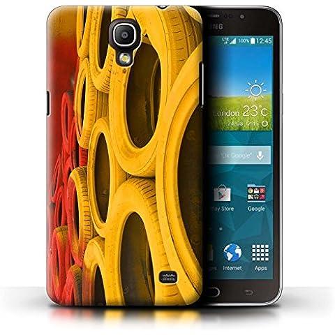Carcasa/Funda STUFF4 dura para el Samsung Galaxy Mega 2 / serie: Pista Carreras Foto - Neumáticos/Barrera