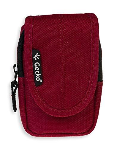 GeckoCovers universal Kameratasche in der Größe small und in der Farbe rot/red - passend für Digitalkameras und Kompaktkameras wie z.B. Panasonic DMC-SZ3EG-K