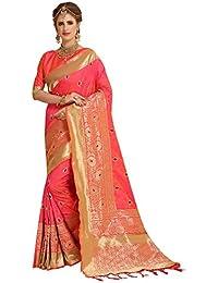 G Stuff Fashion Women Cotton Silk Saree With Blouse piece_TA-43_Light Pink saree