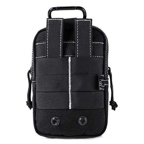 Qiorange Leicht klein Tactical Hip Bag Hüfttasche Beintasche,Mode Multifunktional Handytasche für Camping Wandern Outdoor Schwarz