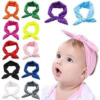 Fascigirl Baby Stirnband, Bogen Headwrap Elastisches Kaninchen Ohr Hairband für Neugeborenes Kleinkind