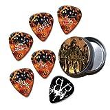 Black Veil Brides Set of 6 Loose Guitar Médiators in Tin ( Collection E )