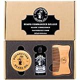 Ensemble cadeaux avec Huile pour Barbe Deluxe de la marque DUCKBUTTER – Le classique Beard Commander avec brosse...