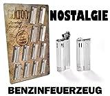 Nostalgie Atomic Benzinfeuerzeug Austria Softflame Nachfüllbar Chrom Metallfeuerzeug