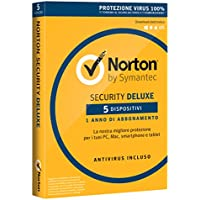 Norton Security Deluxe Antivirus Software 2018 | Protezione Antivirus per 5 Dispositivi (Licenza di 1 anno) | Compatibile con Mac, Windows, iOS e Android
