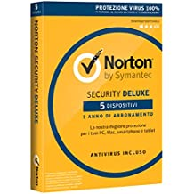 Norton Security Deluxe Antivirus Software 2018 | 5 Dispositivi (Licenza di 1 anno) | Compatibile con Mac, Windows, iOS e Android