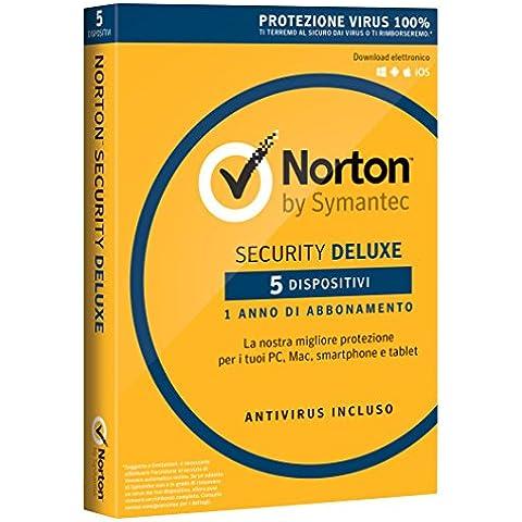 Norton Security Deluxe 2017 - 5 dispositivi, 1 (Software)