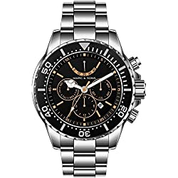 MARC & SONS 1000M automatic watch - Professional mechanical watch Power reserve - MSD-040