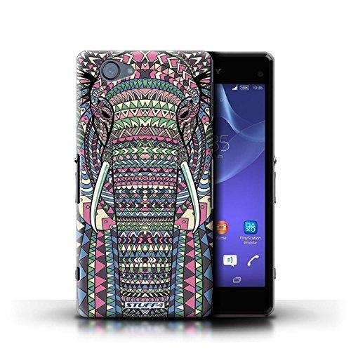 Kobalt® Imprimé Etui / Coque pour Sony Xperia A2 / Loup-Pourpre conception / Série Motif Animaux Aztec éléphant-Couleur