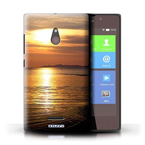 Kobalt® Imprimé Etui / Coque pour Nokia XL / Orange et bleu conception / Série Coucher du Soleil mer