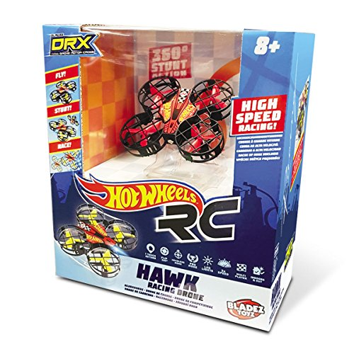 Mondo-63571 Nano Drone radiocomandato, Colore Livrea Hot Wheels, 63571
