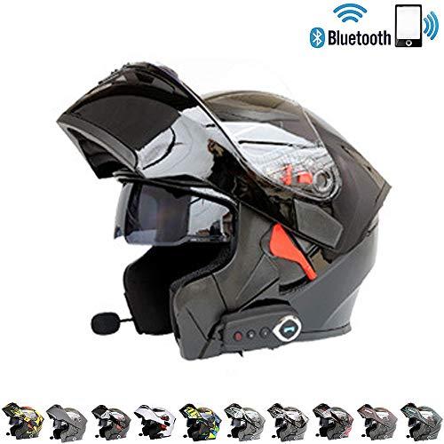 C-TK Bluetooth Integrato modulare Moto Casco ECE 22.05 Certificazione DOT Sicurezza Standard-Full Face Racing Casco complessivo Moto,8,XXL(63~64) CM