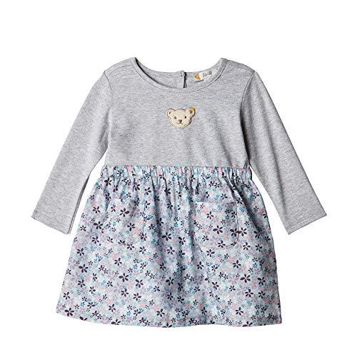 Steiff Baby - Mädchen Kleid , Grau (QUARRY 9007) , 74 (Herstellergröße:74)
