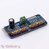 AZDelivery ⭐⭐⭐⭐⭐ PCA9685 16 Kanal 12 Bit PWM Servotreiber für Arduino und Raspberry Pi
