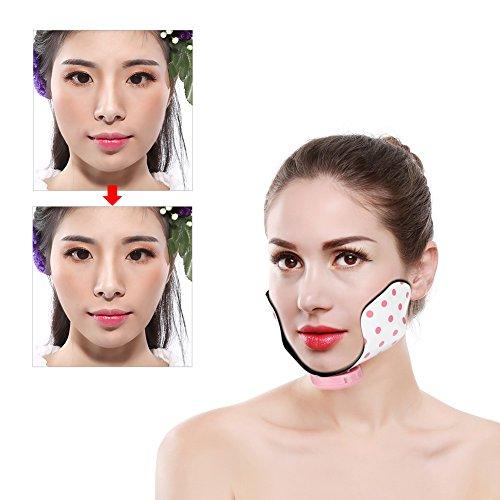 Mini Gesicht Patch- v Gesicht und dünnes Gesicht,Facial Lifting Tool, dünnes Gesicht Silikon Patch, 6 Modi und 10 Intensitäten Abnehmen Anheben Straffende Pad Punkt Massage Patch