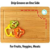 MeRaYo Thick Bamboo Wooden Chopping Board With Finger Hole And Juice Groove/Wooden Multipurpose Serving Tray (33 X 23cm, MSHA002A)
