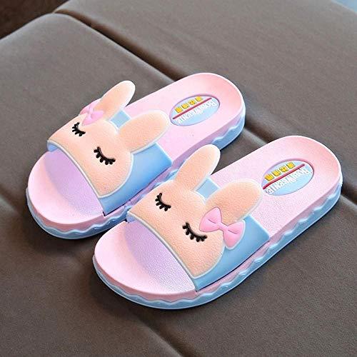 Rutschfeste Slipper für Damen und HerrenDamen Sommer Flip Flops Sandalen, Kaninchensandalen für Kinder, blau, 22 cmSommer Rutschfest für atmungsaktive Schuhe für den Innen- und Außenbereich Open Toe Ankle Wrap Strappy