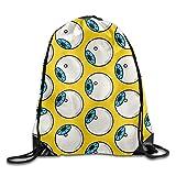 Drempad Tunnelzug Rucksäcke, Eyeballs Print Unsix Drawstring Bag Beam Mouth Shoulders Backpack 17'x14'