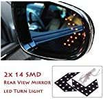2x (Left & Right) side RED color 14 SMD Sequential LED Arrow Car / SUV Side Mirror Turn Signal Indicator Light WATER PROOF - MAX LIFE - FLEXIBLE - NOW WITH NEW STYLE STICK ON 3M STICKER ON THE BACK Description: 2 pieces (a pair) of 14 SMD LED Car...