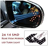 #10: EASY4BUY 1 Pair of SMD LED Arrow Panel Lights for Car Side Mirror Turn Indicator for Mahindra XUV 500