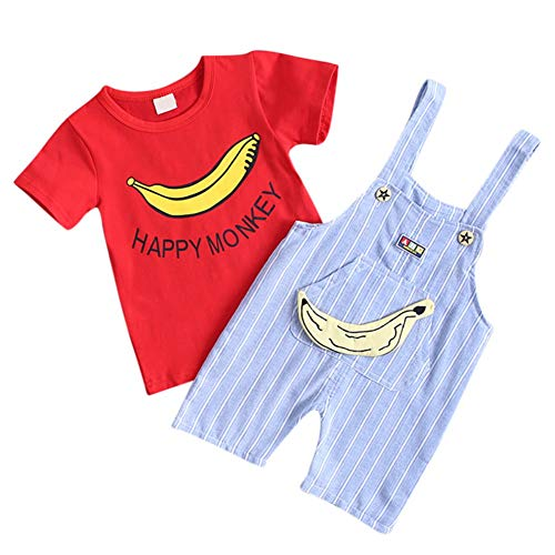 Kleines Mädchen Banane Kostüm - Baby Outfit Banane Latzhose Hose und