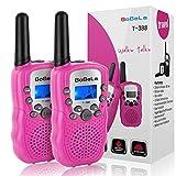 Bobela T388 Walki Talki Set Kinder Funkgerät mit Taschenlampe LCD Dispplay/VOX PMR Lizenzfrei Walkie Talkies 8 Kanal 0.5w 3km