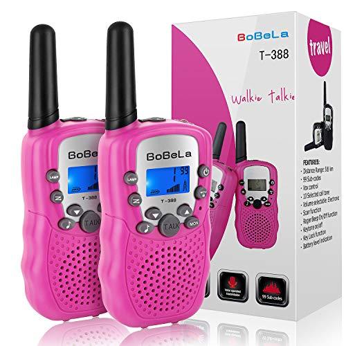 Bobela T388 Walki Talki Set Kinder Funkgerät mit Taschenlampe LCD Dispplay/VOX PMR Lizenzfrei Walkie Talkies 8 Kanal 0.5w 3km Waki Takis...
