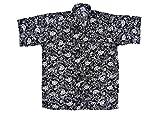 Ontop-Fashion Hawaiihemd Hawai Freizeit Hemd Shirt Viskose schwarz Blumen weiß Tropical, Größe:M