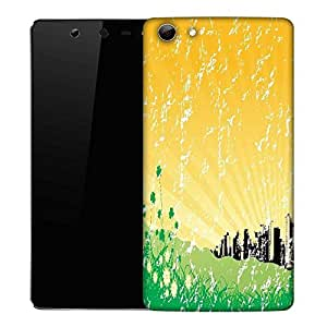 Snoogg garden background with retro architecture Designer Protective Back Case Cover For Micromax Canvas Selfie Q348