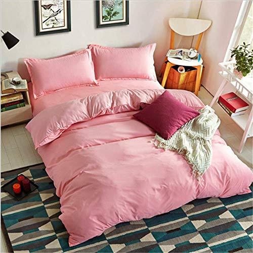 SHJIA Streifen Bettwäsche Set Satin Baumwolle Bettbezug Bettbezug Twin Voll Königin König Super Größen C 180x220cm (Minnie Voller Größe Bettwäsche-set)