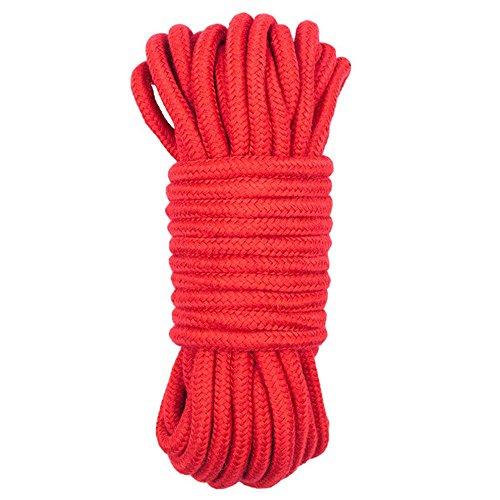 Wolike 10 Metros de Largo Cuerda Algodon Suave MS001 (Rojo)