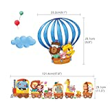 Decowall DA-1406 Zug und Heißluftballons Autos Flugzeuge Tiere Wandtattoo Wandsticker Wandaufkleber Wanddeko für Wohnzimmer Schlafzimmer Kinderzimmer Vergleich