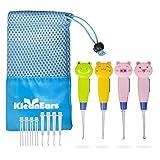 KleanEars Kinder Ohrenschmalz Remover Tool Baby sicher 4 Stk LED Beleuchtung Ohr holen Löffel Ohrenschmalz Remover Kürette Pinzette Ohr Löffel Reinigung